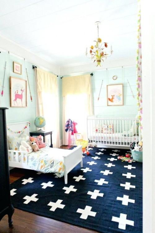 blue rugs for bedroom