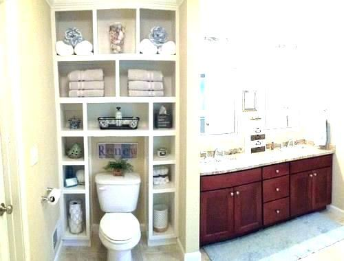 over toilet shelving small design ideas