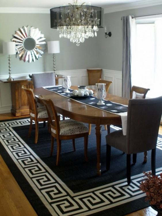 round rug for kitchen table