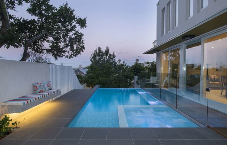 Beautiful Swimming Pools Modern 20 Pool Landscaping With Trees Home Design  Lover Regarding 8