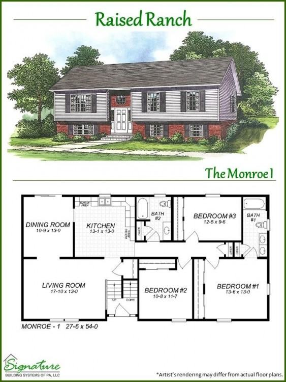 Ranch house plans Raised