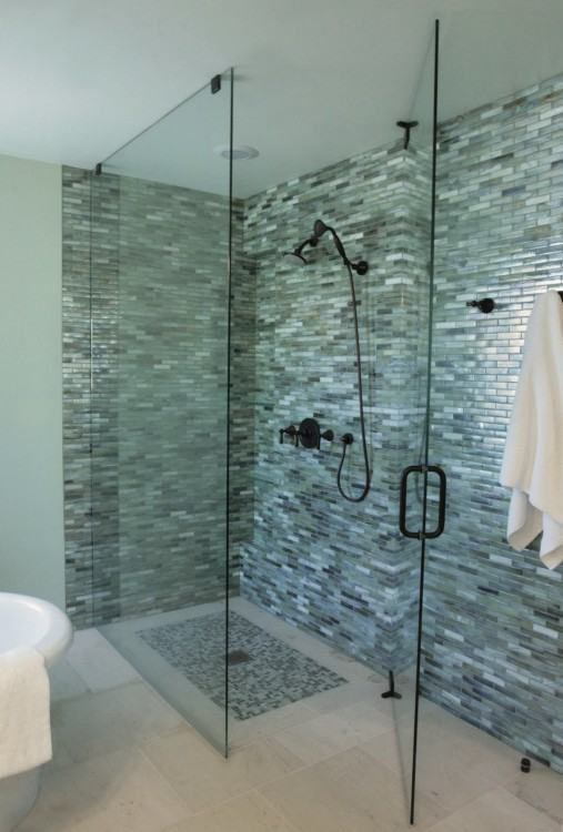Sea glass tile backsplash ideas bathroom mosaic mirror tile sheets |  Bravotti