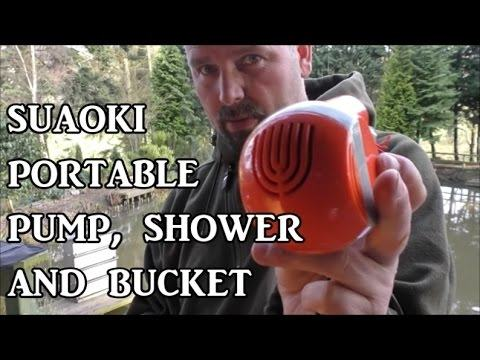 Suaoki Portable Water Pump 2200 mAh Rechargeable with Sprinkler Shower Head  /(1