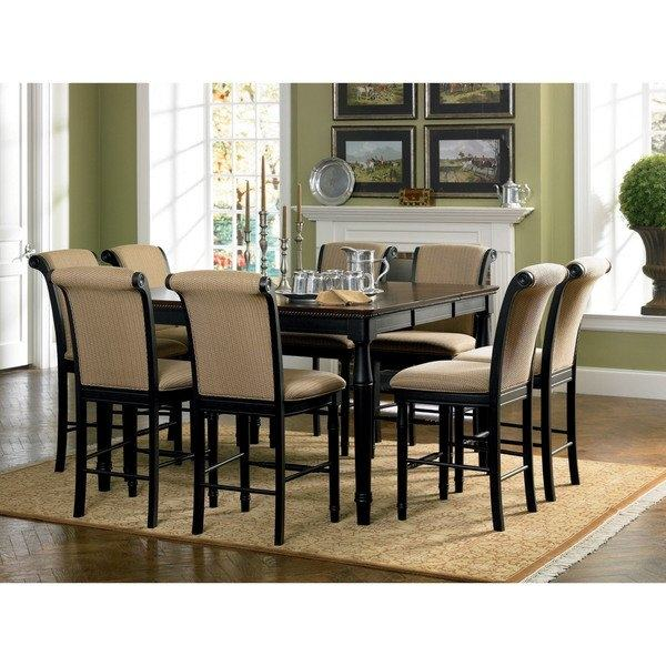 9 piece counter height dining set 9 piece counter height dining set finish  black