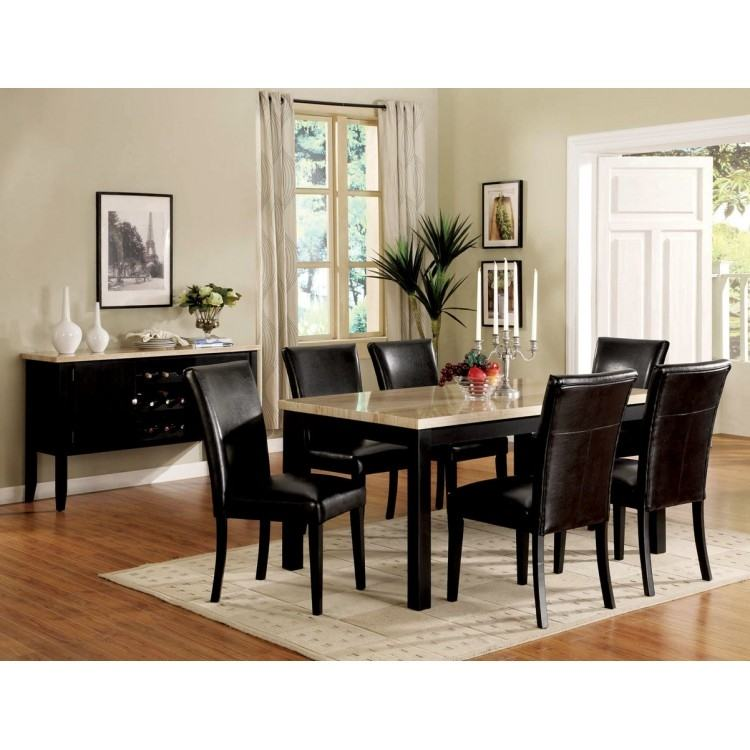 Portland Rustic Furniture Extendable Dining Room Table & Chair Set