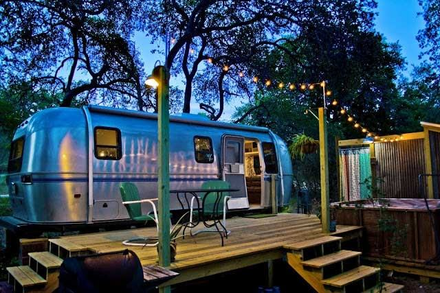 Glamping in the forest canopy of the Texas Hill Country