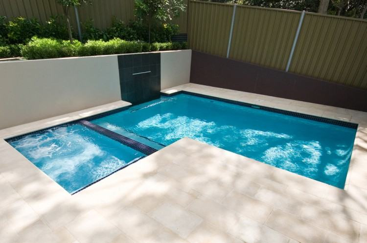 Pictures Gallery of Appealing Swimming Pools For Small Yards 2 L Shaped  Pool Designs within Stylish along with Interesting small backyard pools  regarding