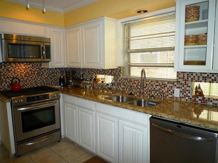 Backsplash Ideas For Kitchen With Divine Red Kitchen Backsplash Made Of  Marble With Black Marble