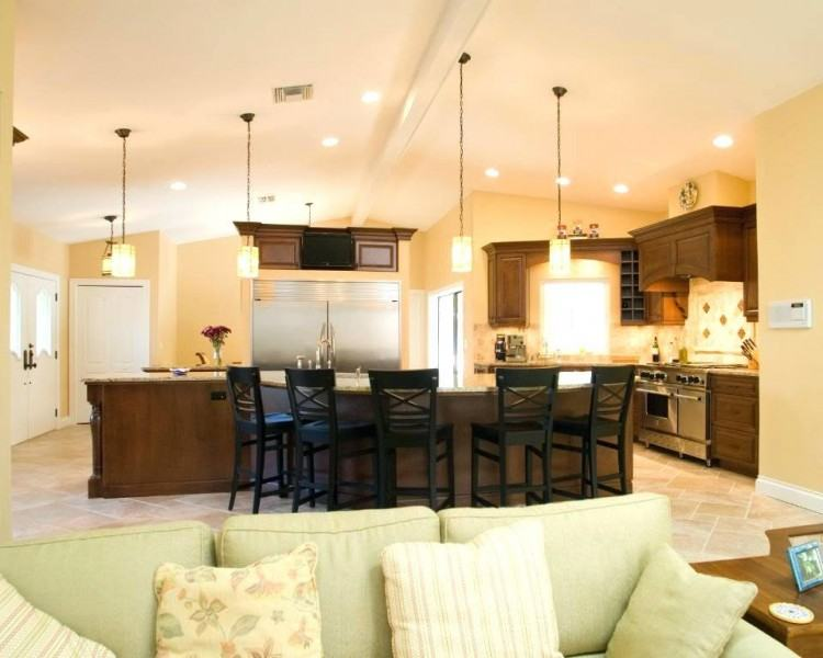 vaulted ceiling kitchen exposed beams add visual