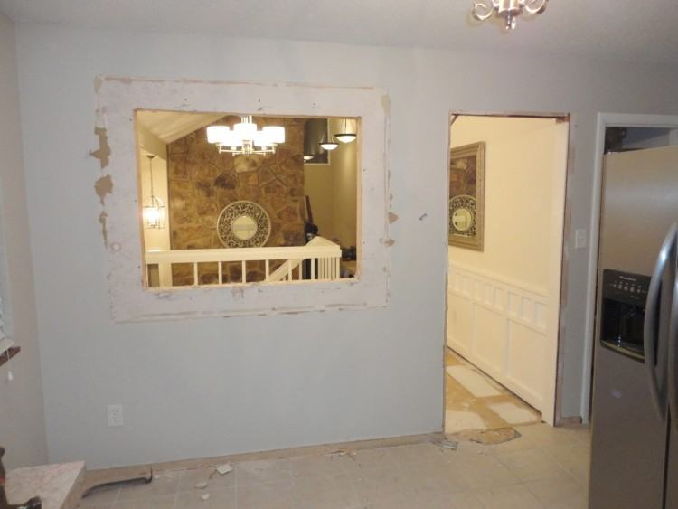for knocked down wall between kitchen and living room