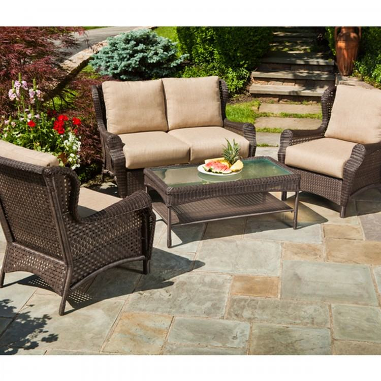 Wicker Deck Furniture Wicker Patio Dining Sets Contemporary Unlegged Wicker  Sofa Sets With Modern
