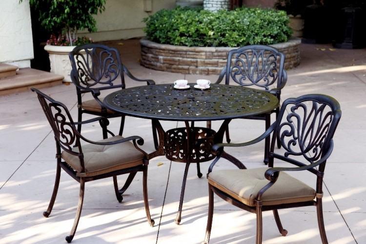 Color: 7pc dining set cast  aluminum