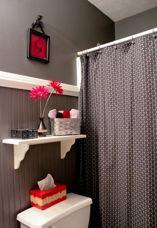 red gray bathroom