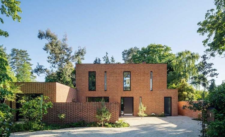 modern brick home design brick house