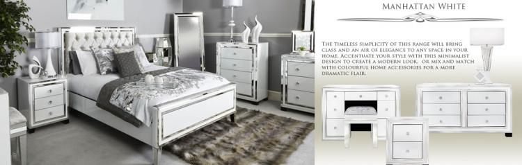 The fabulous Manhattan bedroom furniture range