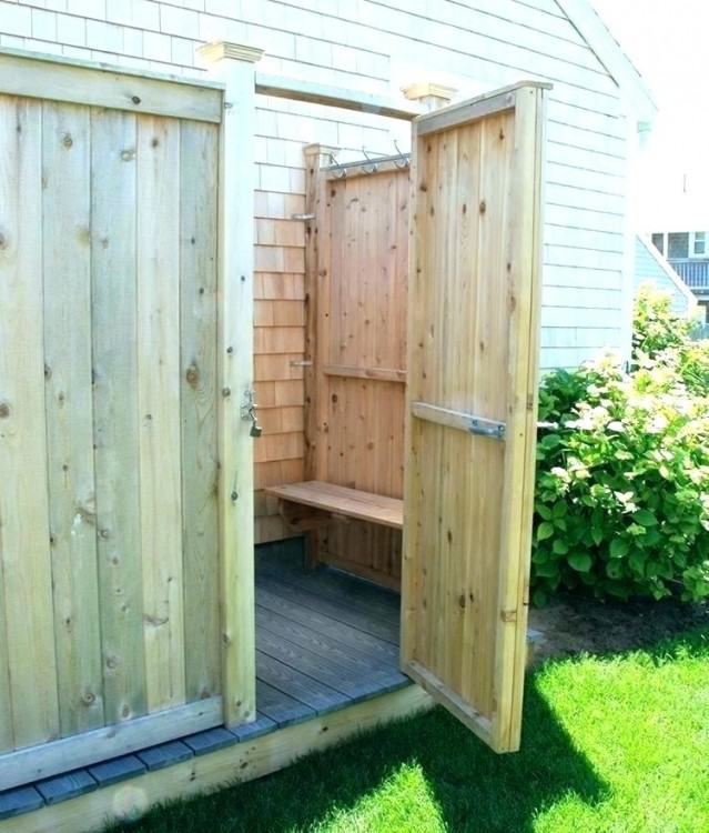 33 design ideas for wooden and metal outdoor shower enclosures outdoor  shower with curtains and stainless