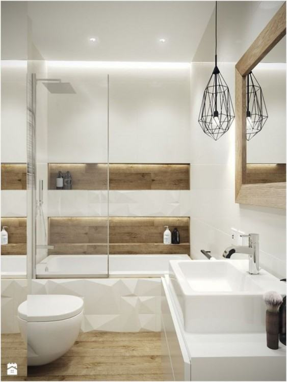 Bathroom Enliven Your Bathroom With Feature Wall · 24 Beautiful Bathroom  Wall Design Ideas For Your mosaic tile