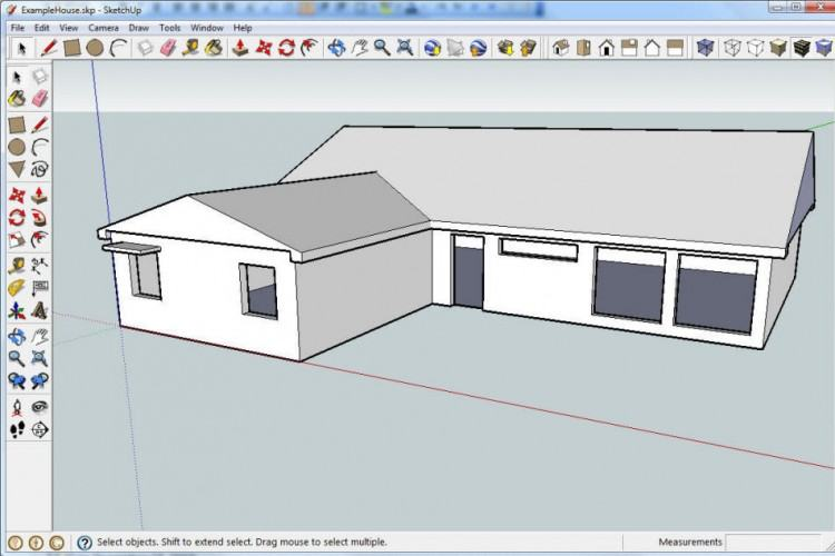 SketchUp has an intuitive interface and needed options to start with, so one  is not overwhelmed by possibilities