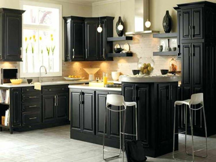 Kitchen Cabinet Color That Pops | Designer McFadden enlivened the kitchen  with cabinets painted in Olympic® Paint's blue paint color Castile
