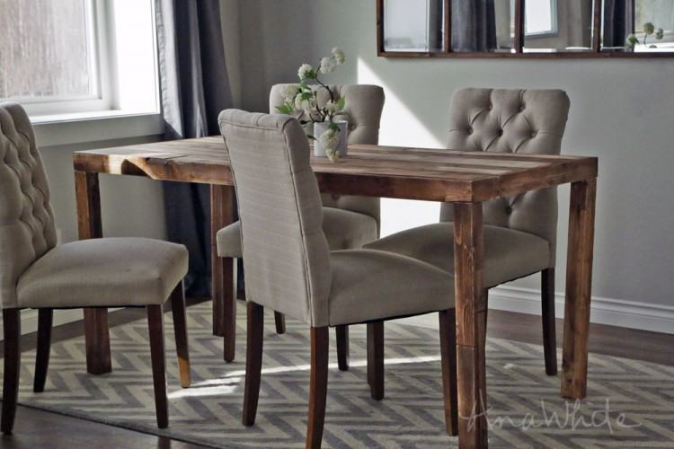 parsons dining room table