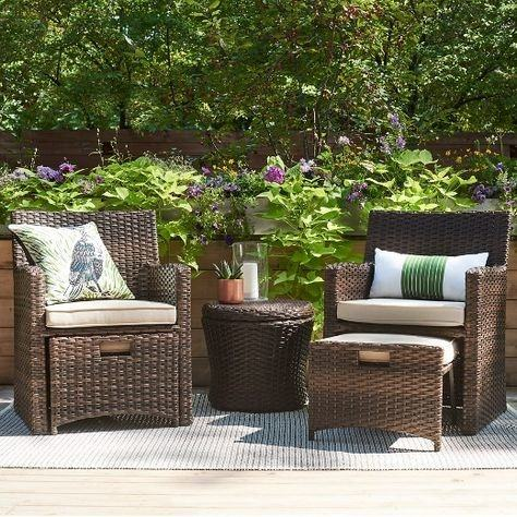 5 piece wicker small space patio furniture set target