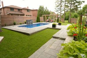 Patio Rectangular Concrete Inground Pool Fair Design Small Pools Ideas  Features Rectangle Shape Very Cocktail For