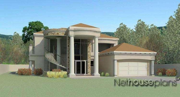 Single story modern house design