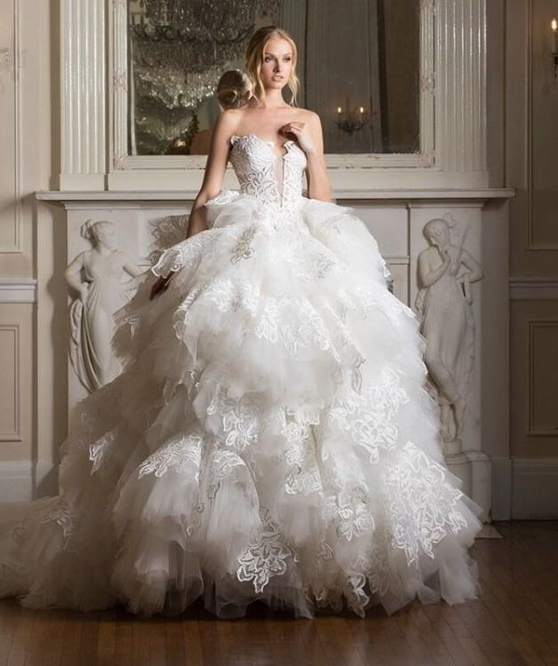 Discount 2018 Wedding Dresses Pnina Tornai Collection Vintage A Line  Sweetheart With Sheer Waist Low Lace Up Back Drapped Brush Train Bridal  Gowns A Line