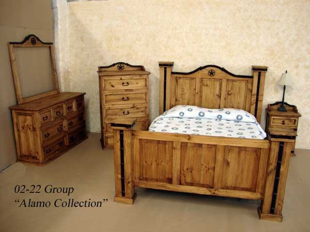 Home Corona King Size Bed, 5 ft, High Foot End Bed Frame Solid Distressed  Waxed Pine Wood Mexican Bedroom Furniture: Amazon