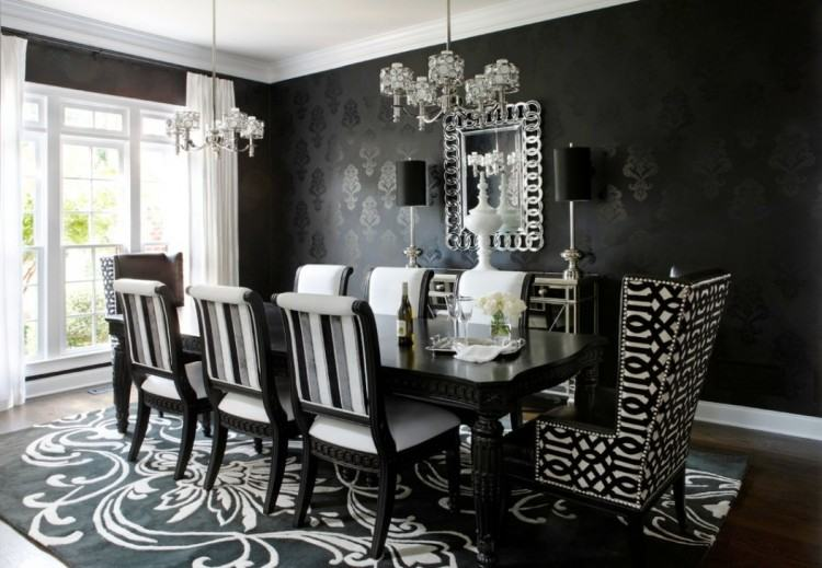 Fresh White Dining Room With Sconces