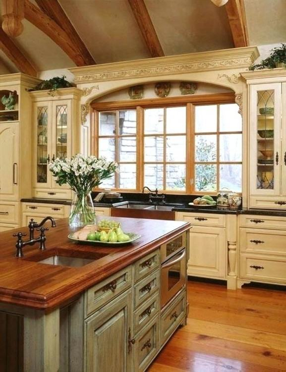 country backsplash kitchen idea  country style