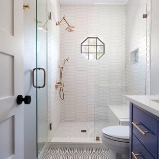 Emerald trimming of the walls  creates freshness | Home Ideas | Bathroom, Small bathroom, Bathroom design  small