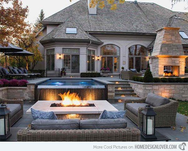 Fireplaces and Firepits #002 by Pools by John Clarkson