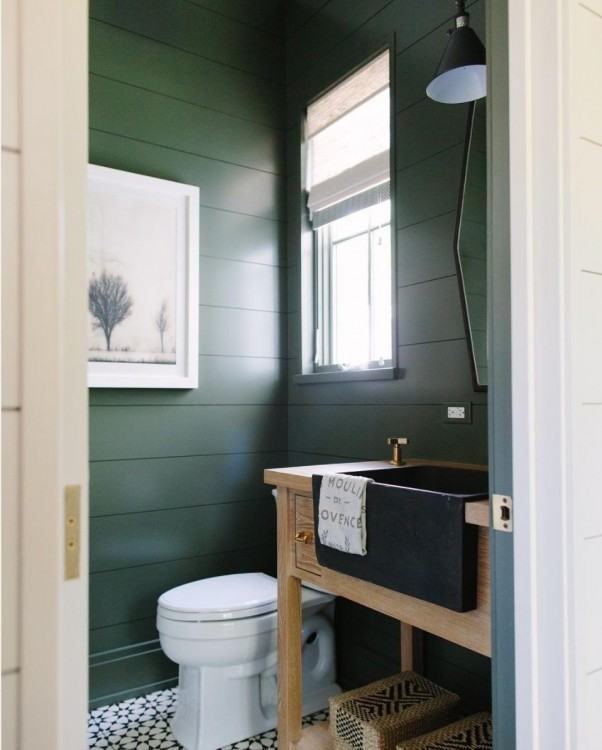 Beautiful earthy blue paint color for  bathrooms, especially when · Bathroom GreenBathroom Wall ColorsEarthy