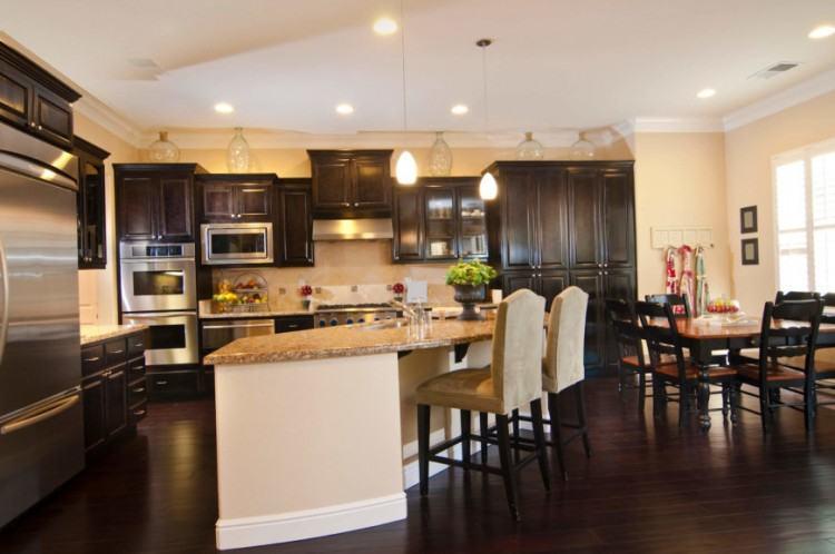 dark wood kitchen floor top stylish laminate tiles for kitchen dark