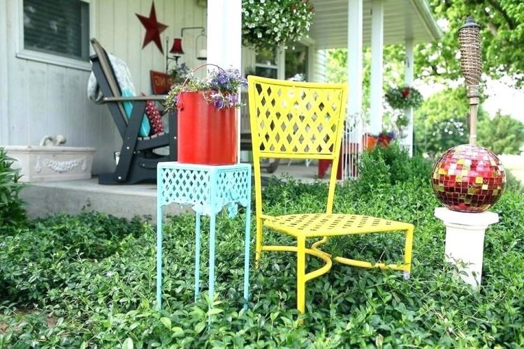 Full Size of Retro Metal Patio Furniture Sets Small Outdoor Iron Table Spray  Paint Round Astounding