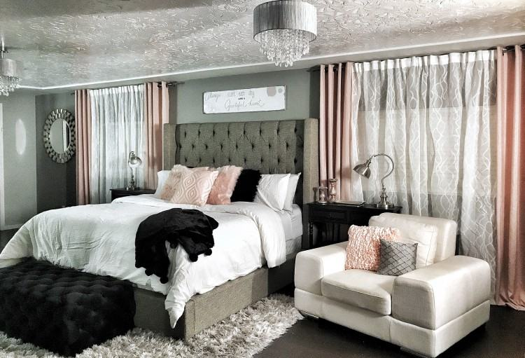 Dramatic Wing back bed