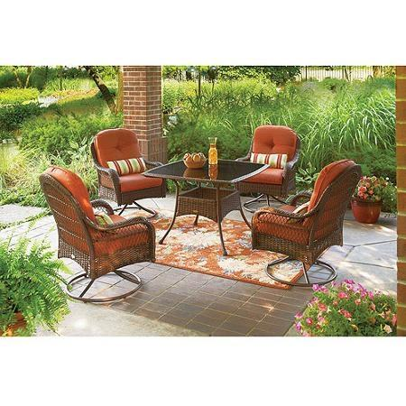 Gorgeous Outdoor Dining Sets For 4 Home Styles Stone Harbor 5 Piece  Round Patio Dining Set