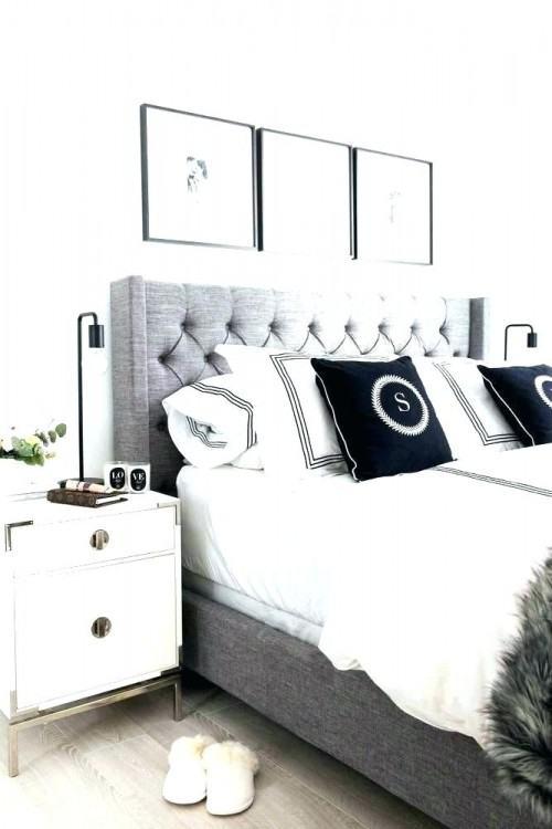 charcoal gray headboard bedroom room ideas grey dark queen king super