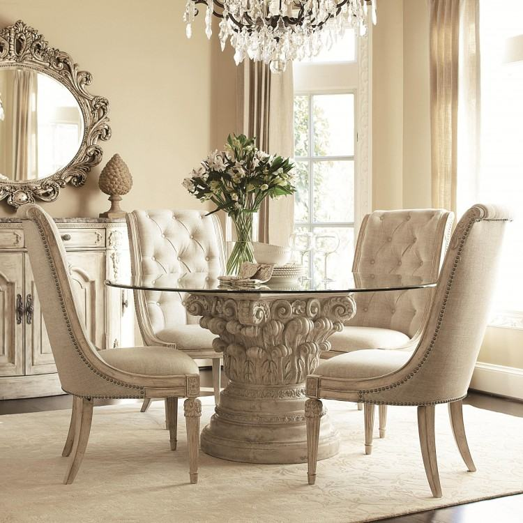Butterfly Back 5 Piece Round Dining Table Set