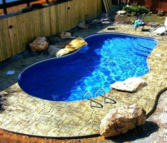 small pools for small backyards | Modern Backyard Design Small Backyard  Swimming Pool Lounge Enclose
