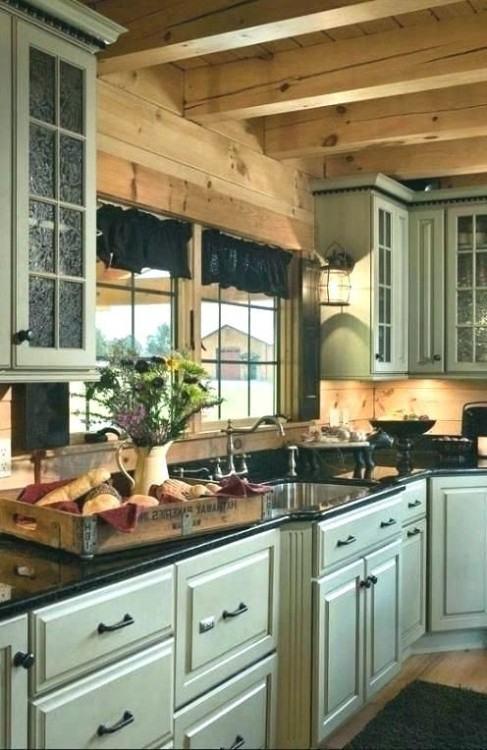 Creative of Cabin Remodel Ideas Log Cabin Kitchen Cabinets Brilliant  Decoration Beautiful Cabin