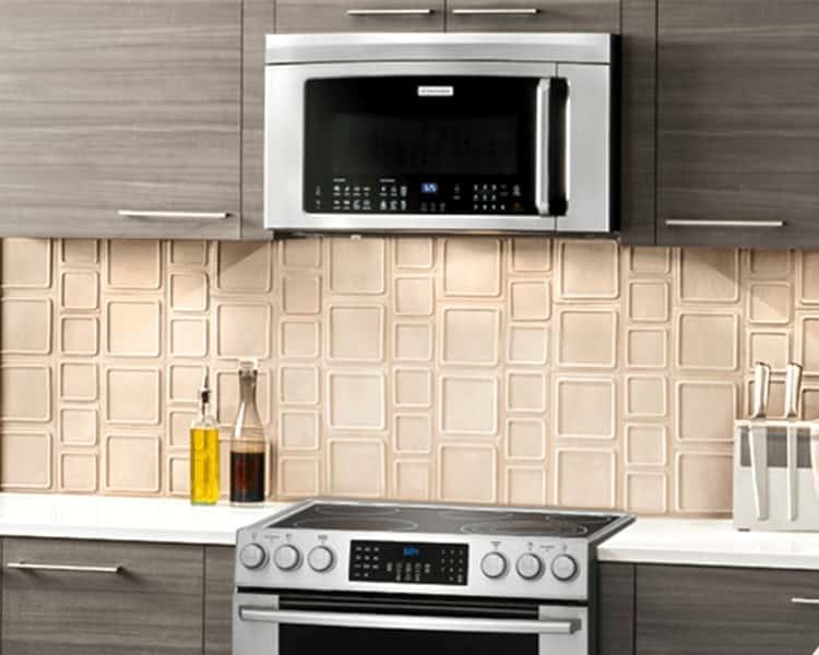 Creative Kitchen L Shape White Kitchen Drawers And Wall Cabinet White  Kitchen Island With Quartz Countertop Stainless Faucet Sink Range Hood Ranges  And