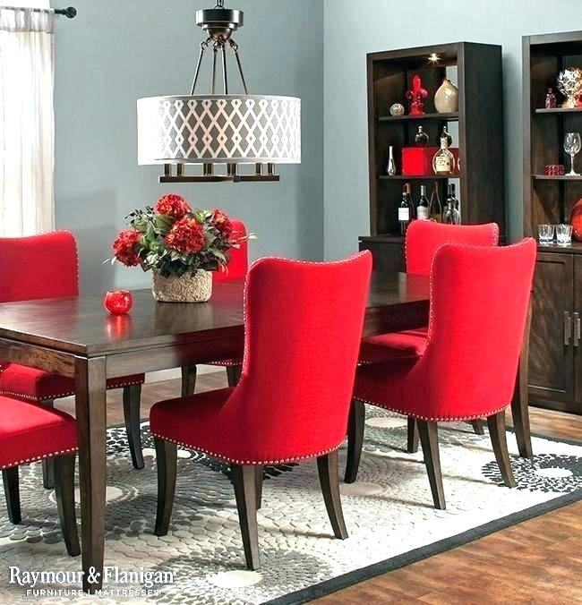 Red dining room walls with a touch of white [Design: Decor by Denise]