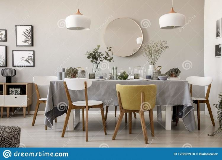 round mirrored dining table