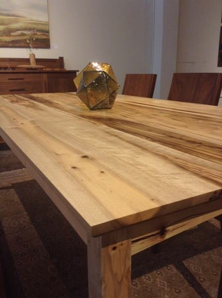 dining table with green