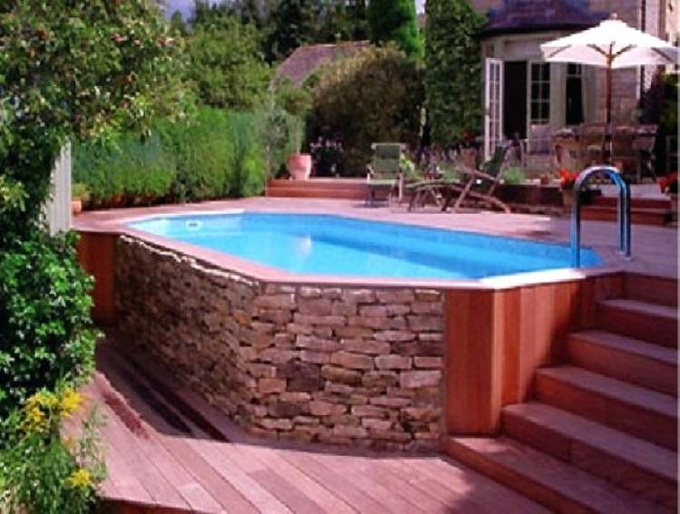 backyard deck and pool designs above ground