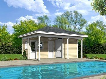 the pool house is comfortable