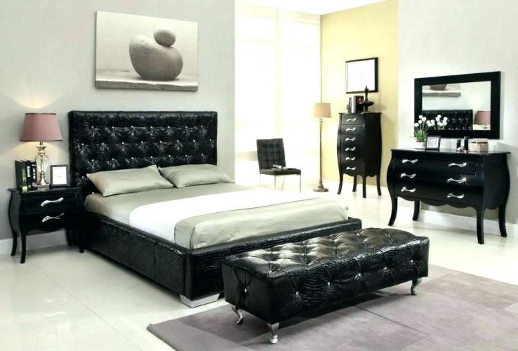 lacquer furniture bedroom black high gloss