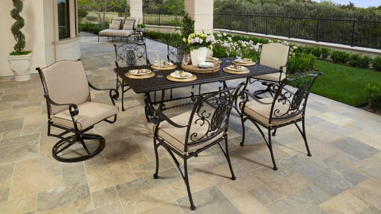Furniture Patio Cast Iron Wrought Endearing Outdoor Chairs And Tables With  Lounge